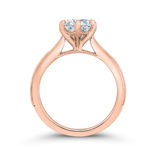 Load image into Gallery viewer, 14K Rose Gold Round Diamond Engagement Ring (Semi Mount)