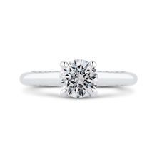 Load image into Gallery viewer, CA0432E-37W-1.00 Bridal Jewelry Carizza White Gold Round Diamond Halo Engagement Rings