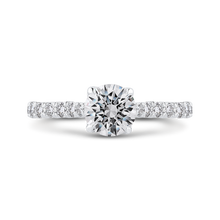 Load image into Gallery viewer, CA0433EH-37W-1.00 Bridal Jewelry Carizza White Gold Round Diamond Engagement Rings