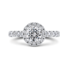 Load image into Gallery viewer, CA0436EH-37W-1.00 Bridal Jewelry Carizza White Gold Round Diamond Halo Engagement Rings