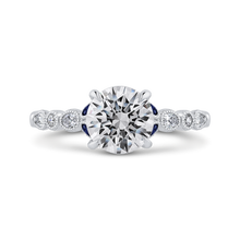 Load image into Gallery viewer, CA0440EH-S37W-1.50 Bridal Jewelry Carizza White Gold Round Diamond Engagement Rings