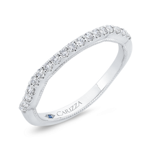 Load image into Gallery viewer, Round Cut Diamond 14K White Gold Half Eternity Wedding Band