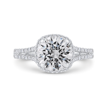 Load image into Gallery viewer, CA0462EH-37W-2.00 Bridal Jewelry Carizza White Gold Round Diamond Halo Engagement Rings