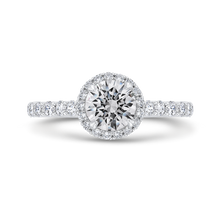 Load image into Gallery viewer, CA0463EH-37W-1.00 Bridal Jewelry Carizza White Gold Round Diamond Engagement Rings