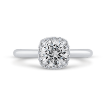 Load image into Gallery viewer, CA0469E-37W-1.00 Bridal Jewelry Carizza White Gold Round Diamond Engagement Rings