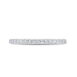 CA0471BH-37W-1.50 Bridal Jewelry Carizza White Gold Diamond Wedding Bands