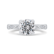 Load image into Gallery viewer, CA0473EH-37W-1.50 Bridal Jewelry Carizza White Gold Round Diamond Engagement Rings