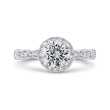 Load image into Gallery viewer, CA0474EH-37W-1.00 Bridal Jewelry Carizza White Gold Round Diamond Engagement Rings