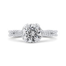 Load image into Gallery viewer, CA0476E-37W-1.50 Bridal Jewelry Carizza White Gold Round Diamond Engagement Rings