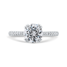 Load image into Gallery viewer, CA0478EH-37W-1.50 Bridal Jewelry Carizza White Gold Round Diamond Engagement Rings