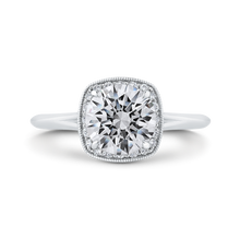 Load image into Gallery viewer, CA0481E-37W-1.50 Bridal Jewelry Carizza White Gold Round Diamond Halo Engagement Rings