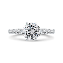 Load image into Gallery viewer, CA0483EH-37W-1.50 Bridal Jewelry Carizza White Gold Round Diamond Engagement Rings