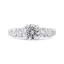 Load image into Gallery viewer, CA0486EH-37W-1.00 Bridal Jewelry Carizza White Gold Round Diamond Engagement Rings