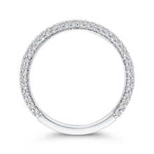 Load image into Gallery viewer, 14K White Gold Round Diamond Half-Eternity Wedding Band