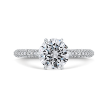 Load image into Gallery viewer, CA0487EQ-37W-1.50 Bridal Jewelry Carizza White Gold Round Diamond Engagement Rings
