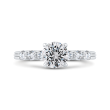 Load image into Gallery viewer, CA0488E-37W-1.00 Bridal Jewelry Carizza White Gold Round Diamond Engagement Rings