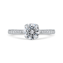 Load image into Gallery viewer, CA0489EH-37W-1.00 Bridal Jewelry Carizza White Gold Round Diamond Engagement Rings