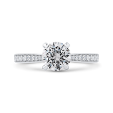 Load image into Gallery viewer, CA0491EH-37W-1.00 Bridal Jewelry Carizza White Gold Round Diamond Engagement Rings