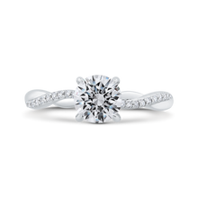 Load image into Gallery viewer, CA0492EH-37W-1.00 Bridal Jewelry Carizza White Gold Round Diamond Engagement Rings