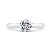 Load image into Gallery viewer, CA0495E-37W-1.00 Bridal Jewelry Carizza White Gold Round Diamond Engagement Rings