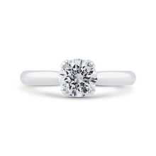 Load image into Gallery viewer, CA0496E-37W-1.00 Bridal Jewelry Carizza White Gold Round Diamond Engagement Rings