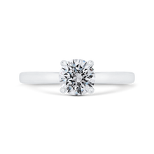 Load image into Gallery viewer, CA0497E-W-1.00 Bridal Jewelry Carizza White Gold Round Solitaire Engagement Rings