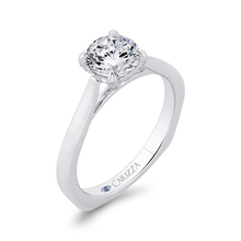 Load image into Gallery viewer, 14K White Gold Diamond Engagement Ring with Euro Shank (Semi-Mount)