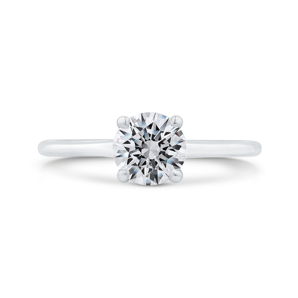 14k White Gold Diamond Engagement Ring With Plain Shank Semi Mount Carizza Michael And Son S Jewelers