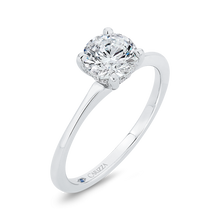 Load image into Gallery viewer, 14K White Gold Diamond Engagement Ring with Plain Shank (Semi-Mount)