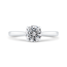 Load image into Gallery viewer, CA0505E-W-1.00 Bridal Jewelry Carizza White Gold Round Solitaire Engagement Rings