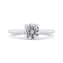 Load image into Gallery viewer, CA0506E-W-1.00 Bridal Jewelry Carizza White Gold Round Solitaire Engagement Rings