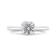 Load image into Gallery viewer, CA0517E-37W-1.00 Bridal Jewelry Carizza White Gold Round Diamond Engagement Rings