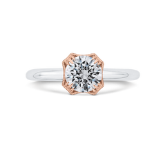 Load image into Gallery viewer, CA0520E-37WP-1.00 Bridal Jewelry Carizza White Gold,Rose Gold Round Diamond Engagement Rings