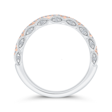 Load image into Gallery viewer, 14K Two-Tone Diamond Wedding Band