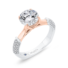 Load image into Gallery viewer, 14K Two-Tone Gold Diamond Engagement Ring (Semi-Mount)