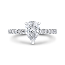 Load image into Gallery viewer, CAA0427EH-37W-1.45 Bridal Jewelry Carizza White Gold Pear Diamond Engagement Rings