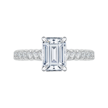 Load image into Gallery viewer, CAE0039E-37W Bridal Jewelry Carizza White Gold Emerald Diamond Engagement Rings