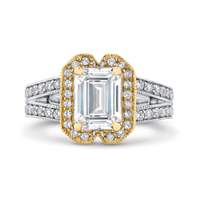 Load image into Gallery viewer, CAE0250EQ-37WY-2.00 Bridal Jewelry Carizza White Gold Rose Gold Yellow Gold Emerald Diamond Engagement Rings