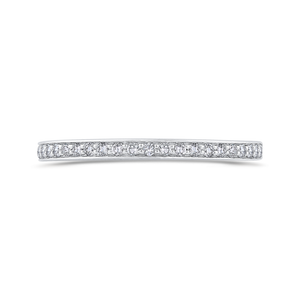 CAE0426BH-37W-1.25 Bridal Jewelry Carizza White Gold Round Diamond Wedding Bands