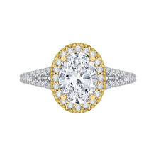 Load image into Gallery viewer, CAO0179EH-37WY-1.50 Bridal Jewelry Carizza White Gold Rose Gold Yellow Gold Oval Diamond Halo Engagement Rings