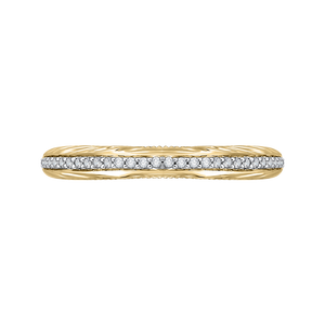 CAO0203B-37WY-1.50 Bridal Jewelry Carizza White Gold Rose Gold Yellow Gold Round Diamond Wedding Bands