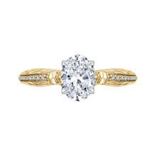 Load image into Gallery viewer, CAO0203E-37WY-1.50 Bridal Jewelry Carizza White Gold Rose Gold Yellow Gold Oval Diamond Engagement Rings