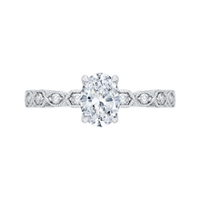 Load image into Gallery viewer, CAO0213EQ-37W Bridal Jewelry Carizza White Gold Oval Diamond Engagement Rings