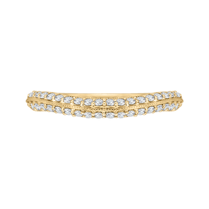 CAO0220B-37-1.50 Bridal Jewelry Carizza Yellow Gold Round Diamond Wedding Bands