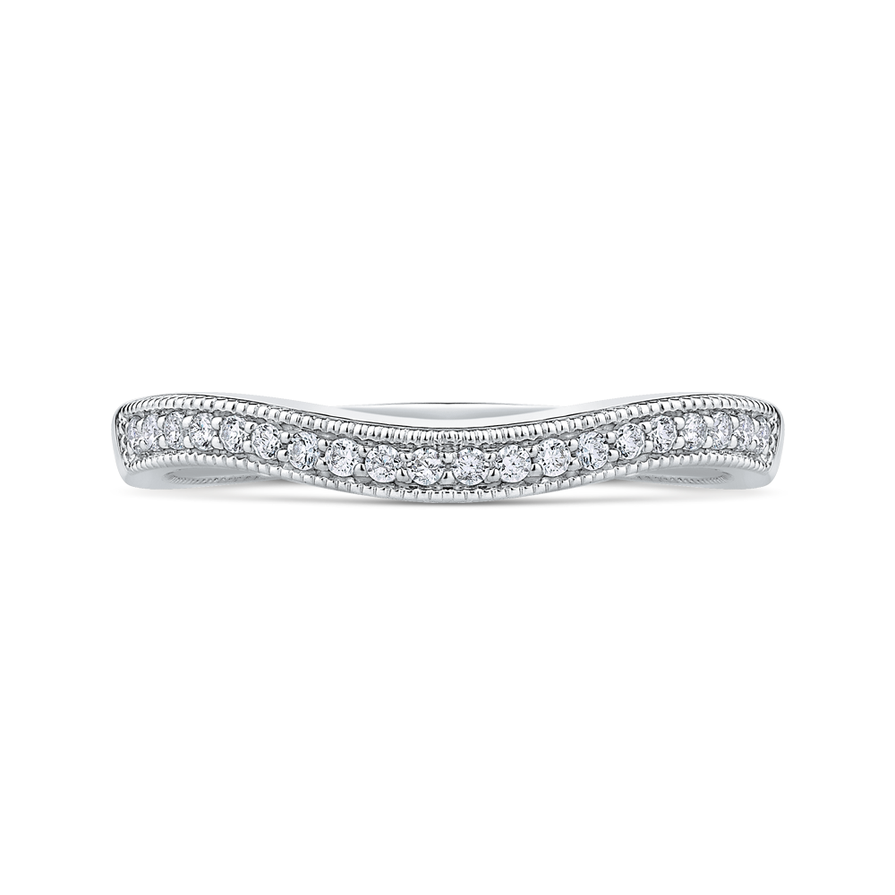 CAO0239B-37W-1.50 Bridal Jewelry Carizza White Gold Round Diamond Wedding Bands