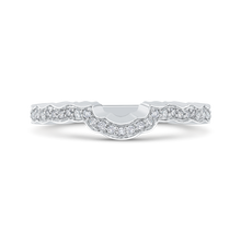 Load image into Gallery viewer, CAO0265B-37W-2.00 Bridal Jewelry Carizza White Gold Round Diamond Wedding Bands