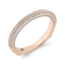 Load image into Gallery viewer, 14K Rose Gold Round Diamond Half Eternity Wedding Band