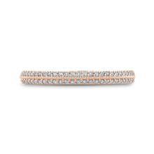 Load image into Gallery viewer, CAO0438BH-37P-1.00 Bridal Jewelry Carizza Rose Gold Round Diamond Wedding Bands
