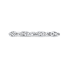 Load image into Gallery viewer, CAO0453B-37W-1.10 Bridal Jewelry Carizza White Gold Round Diamond Wedding Bands