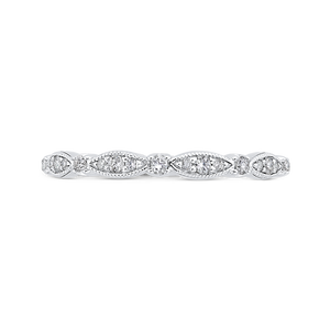 CAO0453B-37W-1.10 Bridal Jewelry Carizza White Gold Round Diamond Wedding Bands